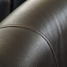 Close Up Brown Leather Texture Of Sofa Furniture