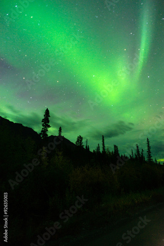 Photo  Wrangell Mountains Northern Lights Aurora Borealis Alaska Night