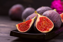Ripe Delicious Figs And Autumn...