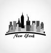 New York city skyline buildings logo