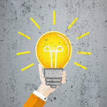Flat Hand Bulb Big Idea Concrete