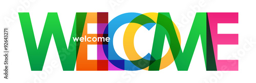 "Fototapeta ""WELCOME"" overlapping letters vector icon"