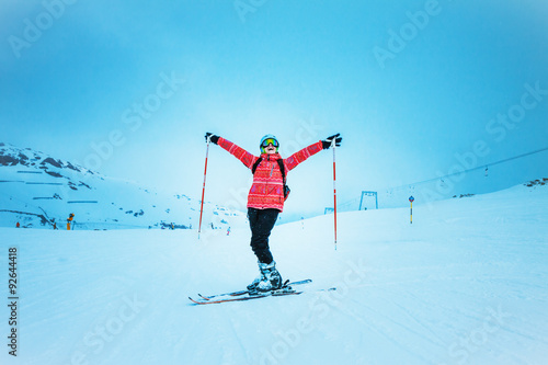 Fotobehang Wintersporten skierl, extreme winter sport