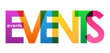 EVENTS Overlapping Letters Vector Icon