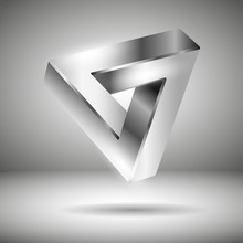 Silver 3d Logo - Illusion