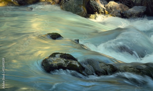 Deurstickers Rivier Mountains stream