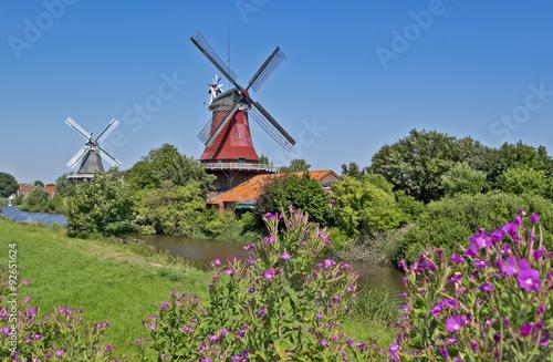 Papiers peints Moulins Greetsieler Zwillingsmühlen