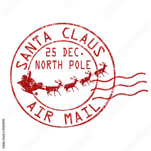 Fotomural Santa Claus air mail stamp