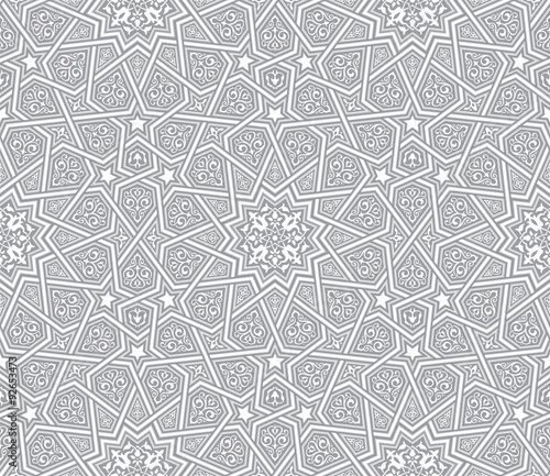Photo  islamic ornament grey vector background