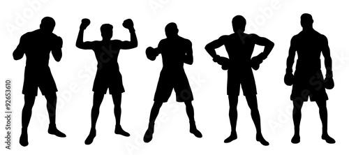 boxer silhouettes Canvas Print