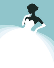 Beautiful Woman In A Wedding Dress, Invitation Or Flyer Template For The Bride Show
