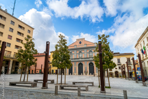 Photo  main square in Potenza, Italy