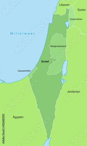 Israel Karte.Israel Karte In Grün Buy This Stock Vector And Explore Similar