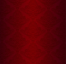 Red Damask Pattern With Vintag...