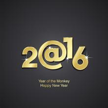 Year Of The Monkey 2016 Black ...