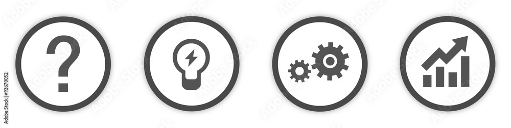 Fototapeta Business Idea Icons Buttons flat