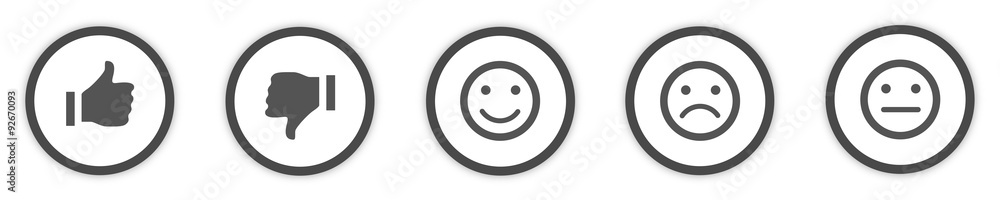 Fototapety, obrazy: Icons Buttons grey Feedback
