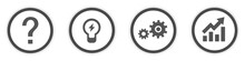 Business Idea Icons Buttons Flat