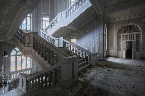Fotografie, Obraz  Abandoned psychiatric hospital