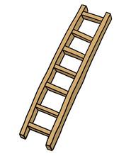 Wooden Ladder/ Cartoon Vector ...