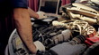 Service and repair, computer diagnostics: a mechanic check the