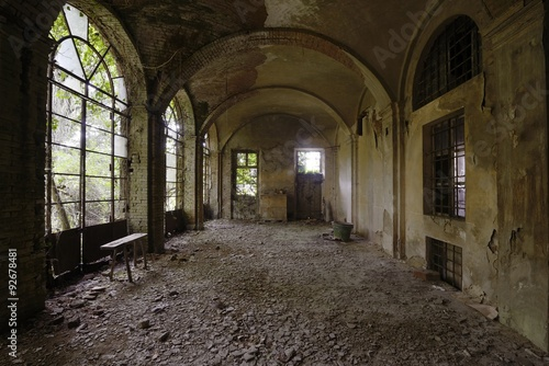 Orangery in an old abandoned castle