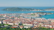 Cityscape of Toulon in a sunny summer morning