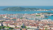 Cityscape of Toulon in a spring day