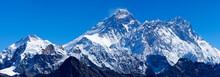 Mount Everest Mit Lhotse, Nuptse Und Pumori