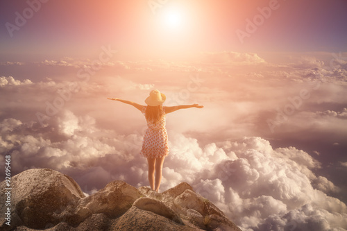 Fotografia, Obraz  The Woman on the Summit