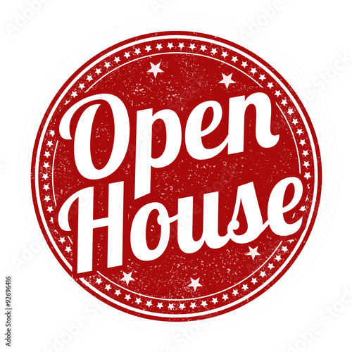 Open house stamp Wall mural