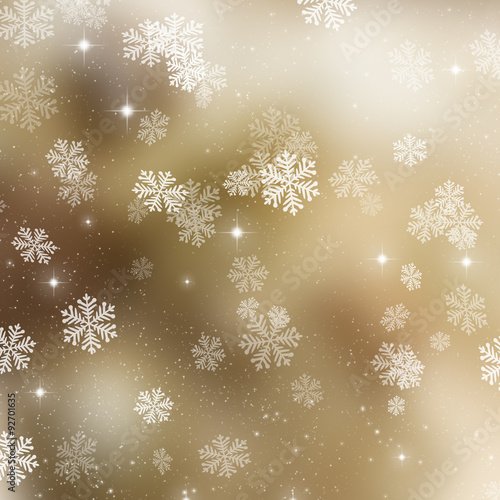 Golden Christmas background - 92701635