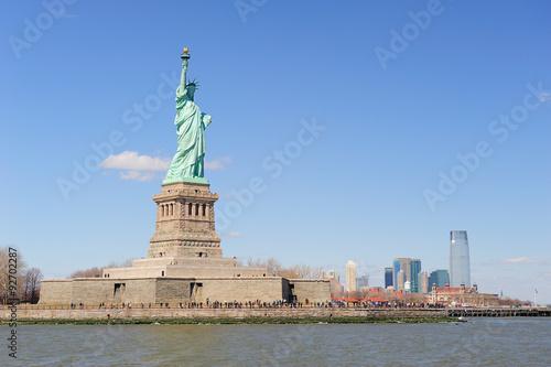 Fotografie, Obraz  Statue of Liberty and New York City Manhattan