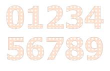 Polka Dot Pattern On Number