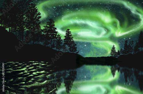 Photo  aurora borealis