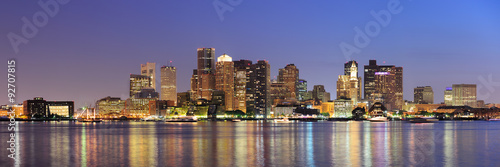 Boston downtown skyline panorama Fototapete