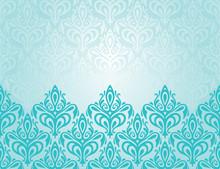 Turquoise Decorative Retro Dec...