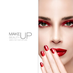 Fototapeta Beauty and Makeup concept. Fashion Nail Art