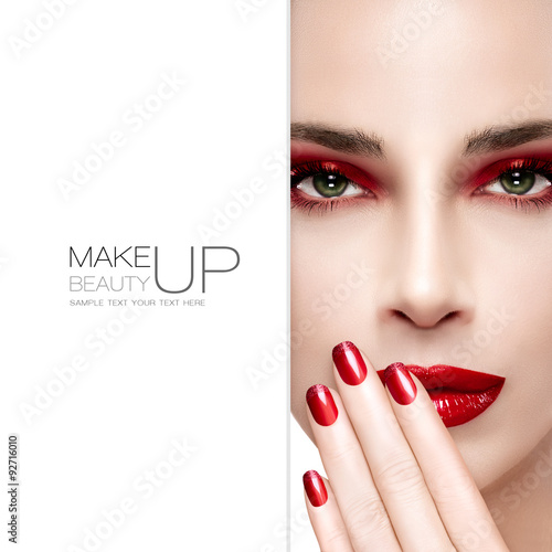 Beauty and Makeup concept. Fashion Nail Art - 92716010