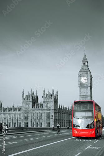 Foto op Canvas Londen rode bus Bus in London