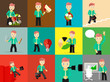 Set of businessman pose character concepts