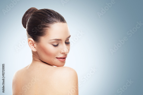 Fotografie, Tablou  Beautiful face of young woman with clean skin