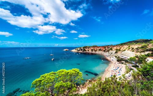 Cala d'Hort beach of Ibiza. Balearic Islands