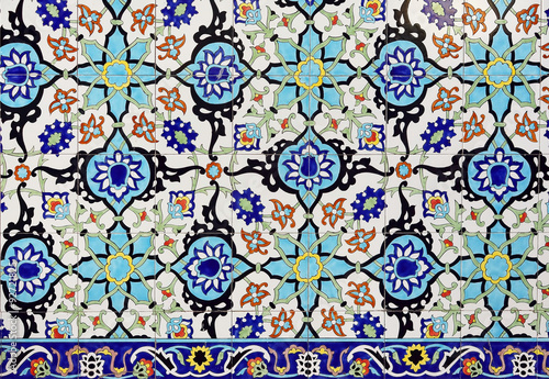 Fototapeta Colorful moroccan mosaic wall as a nice background