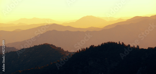 Fotobehang Zwavel geel Mountain ridge abstract