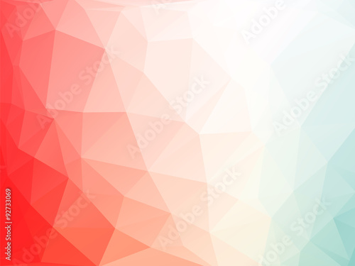 Fotografie, Obraz  red white blue triangles background