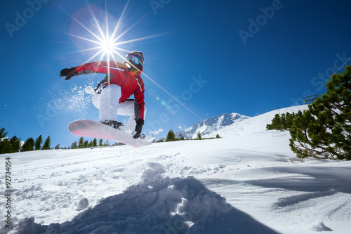 Poster Glisse hiver Extreme snowboarding