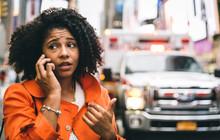 Afro American Woman Calling 91...