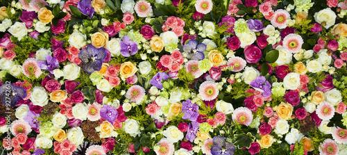 Doppelrollo mit Motiv - fondo de flores