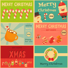 Set Of Cute Christmas Mini Pos...